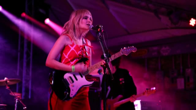 Clementine Creevy of Cherry Glazerr performs onstage at Ticketmaster during the 2019 SXSW Conference and Festivals at Stubb's BarBQ on March 14 2019...