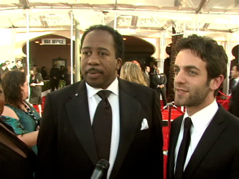 cleo king bj novak leslie david baker at the 14th annual screen actors guild awards at los angeles ca - b.j. novak stock videos and b-roll footage