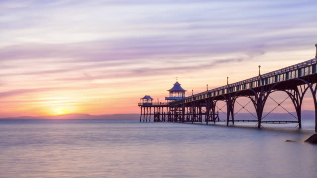 clevedon pier - clevedon pier stock videos & royalty-free footage