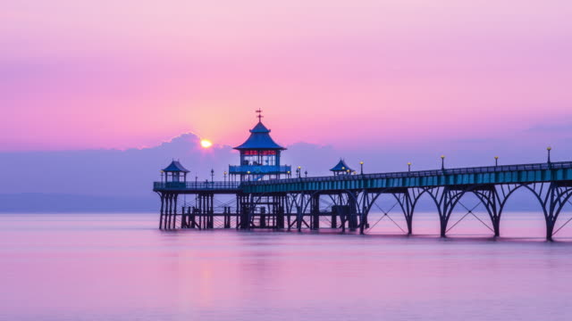 clevedon pier - bristol england stock videos & royalty-free footage