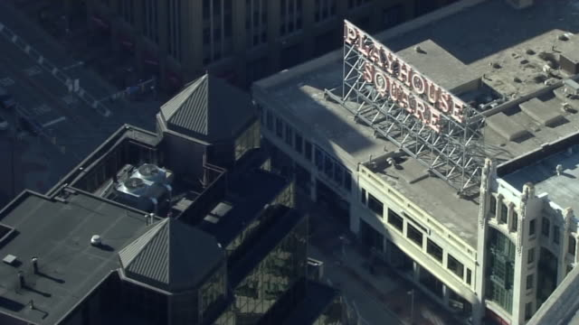 wjw cleveland oh us aerial view of downtown cleveland landmarks on thursday march 14 2019 - ohio stock videos & royalty-free footage