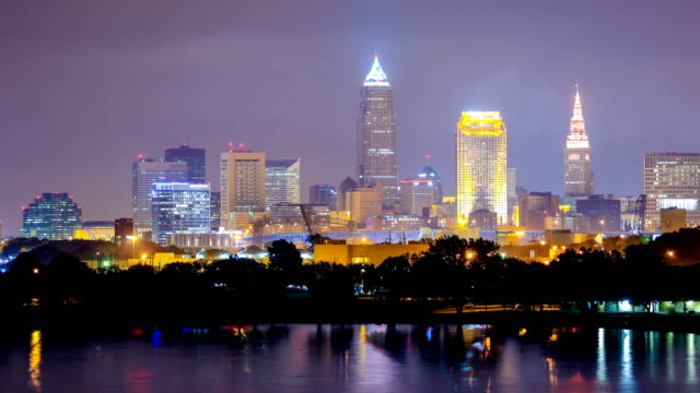 cleveland, ohio skyline - cleveland ohio stock videos and b-roll footage
