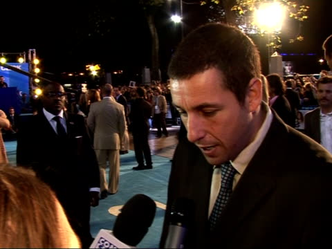 'Click' film premiere Interviews Adam Sandler interview SOT Talks about it being his first Premiere/ Not a gadget man I'm pretty stupid