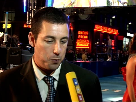 'Click' film premiere Interviews Adam Sandler interviewed by other television crew SOT Talks about David Hasselhoff