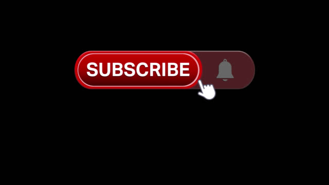 click on subscribe button and followers rising 1 million - poster template stock videos and b-roll footage