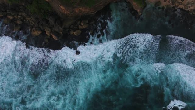 Cliff in Uluwatu temple aerial view