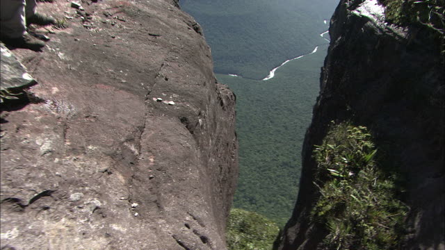 Cliff Near Drop Of Angel Falls On Top Of Auyantepui In Guiana Highlands