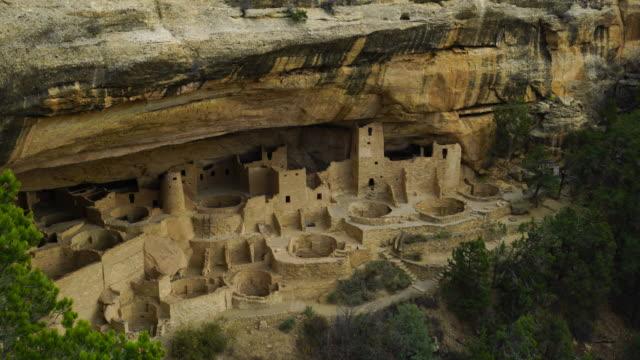 cliff palace, mesa verde national park, unesco world heritage, colorado, usa, north america, america - mesa verde national park stock videos & royalty-free footage