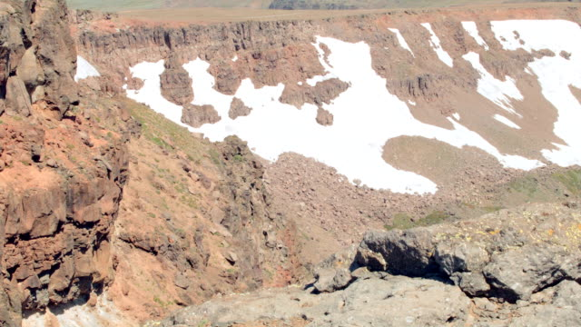 Cliff pan with snow Summit Steens Mountain Near Malhuer Wildlife Refuge 29