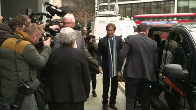 cliff richard criticises bbc over raid footage; england: london: high court: ext cliff richard and gloria hunniford from car cliff richard and gloria... - gloria hunniford stock-videos und b-roll-filmmaterial