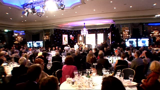 cliff richard fiftieth anniversary lunch: celebrity interviews; sir cliff richard interview with gloria hunniford - includes announcement that he... - gloria hunniford stock videos & royalty-free footage