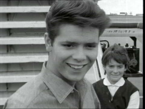 cliff richard interview on his south africa tour; kenya: nairobi airport: ext cliff richard along - cliff richard stock videos & royalty-free footage