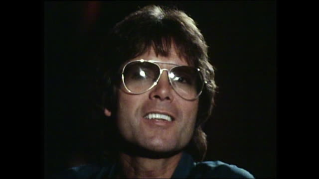 cliff richard interview with donnie sutherland re eternal youth / health - cliff richard stock videos and b-roll footage