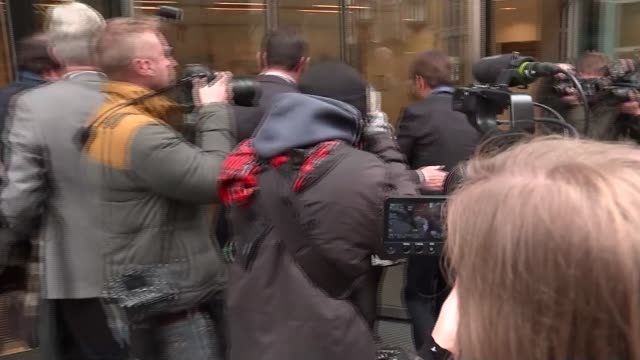 cliff richard privacy case against the cliff richard arriving at the rolls building; england: london: rolls building: ext sir cliff richard arriving... - gloria hunniford stock-videos und b-roll-filmmaterial