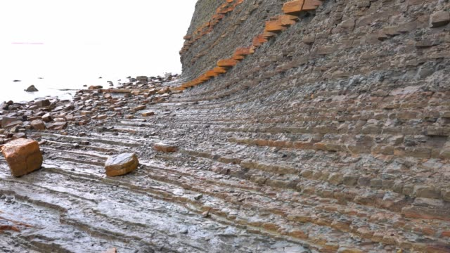 cliff - sedimentary rock wall - sedimentary rock stock videos & royalty-free footage