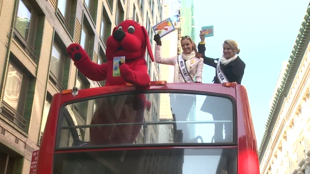 Clifford the Big Red Dog Miss USA Alyssa Campanella and Miss Teen USA Danielle Doty at 2012 World Read Aloud Day Celebration on 3/7/2012 in New York...