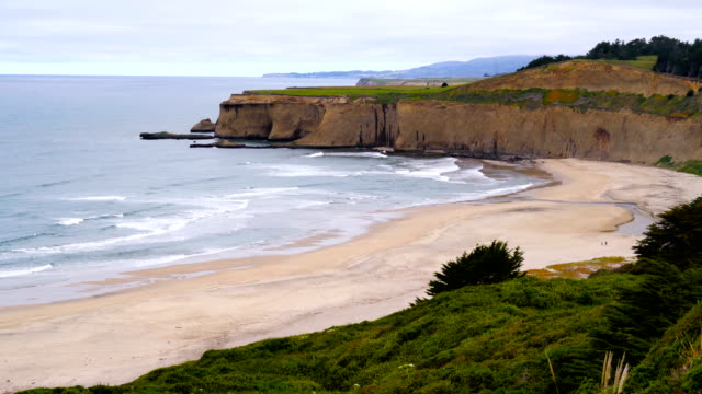 cliffs and coves of northern california pacific ocean beach - northern california stock videos & royalty-free footage