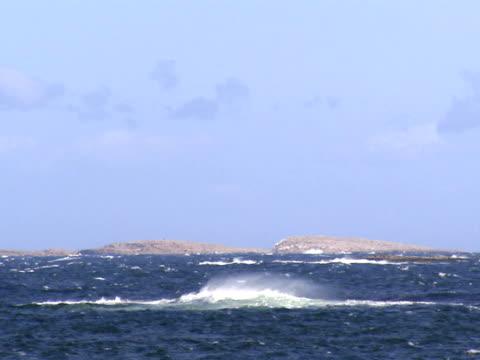 Cliffs and islet rocks Bohuslan Sweden.