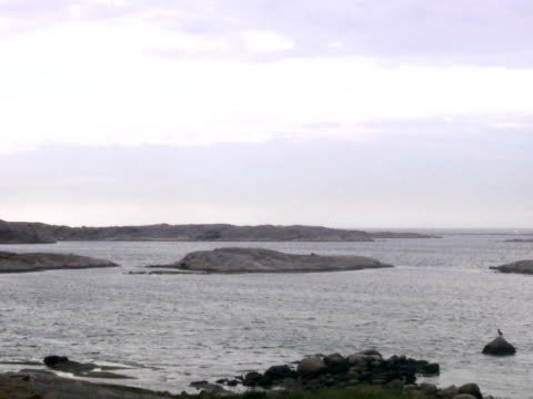 Cliffs and rocky islets Smogen Bohuslan Sweden.