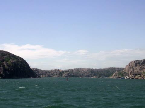 Cliffs and the ocean Smogen Bohuslan Sweden.