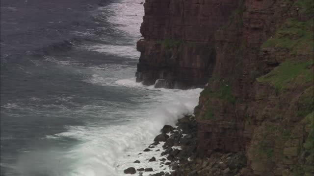 cliffs around hoy - causeway stock videos & royalty-free footage
