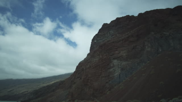 cliffs, hills, sea, clouds, el hierro, canary islands, november 2011 - igneous stock videos and b-roll footage