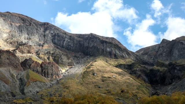 stockvideo's en b-roll-footage met cliffs in northern slope of paektu mountain (changbaishan), china - bergrug