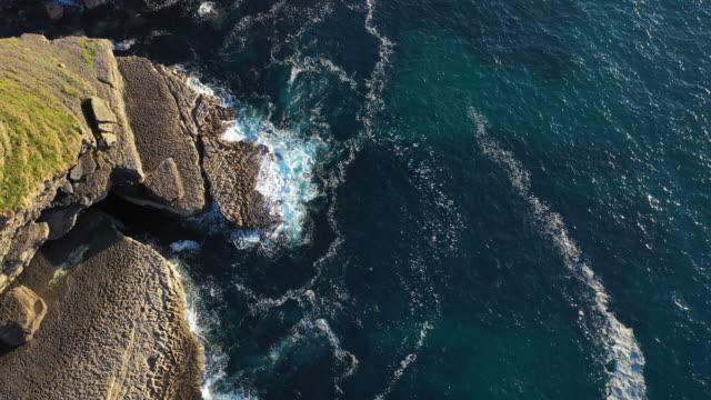 vídeos y material grabado en eventos de stock de cliffs of arnuero, ecoparque de trasmiera, arnuero, cantabrian sea, cantabria, spain, europe - horizontal