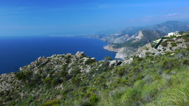 Cliffs of Maro Cerro Gordo, Granada, Andalusia, Spain, Europe