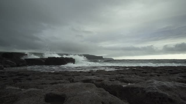 cliffs of moher as seen from doolin harbour - doolin stock videos & royalty-free footage