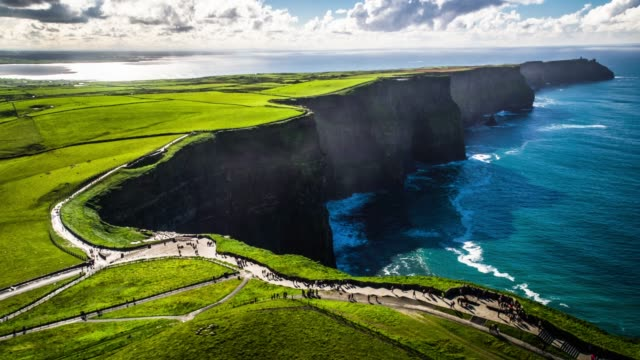 Cliffs of Moher in Ireland - Aerial View