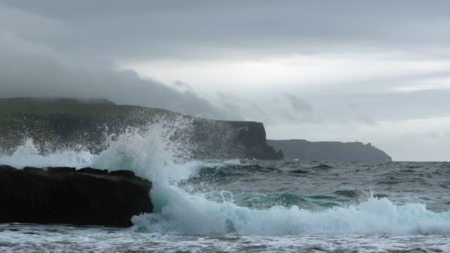 Cliffs Of Moher In Stormy Weather