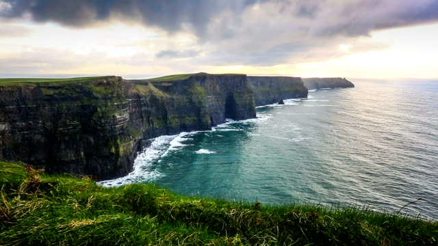 hd: cliffs of moher, ireland - cliff stock videos & royalty-free footage