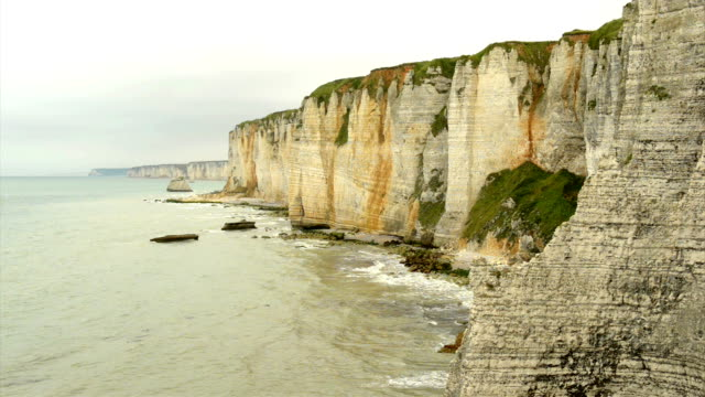 cliffs of normandy - normandy stock videos and b-roll footage