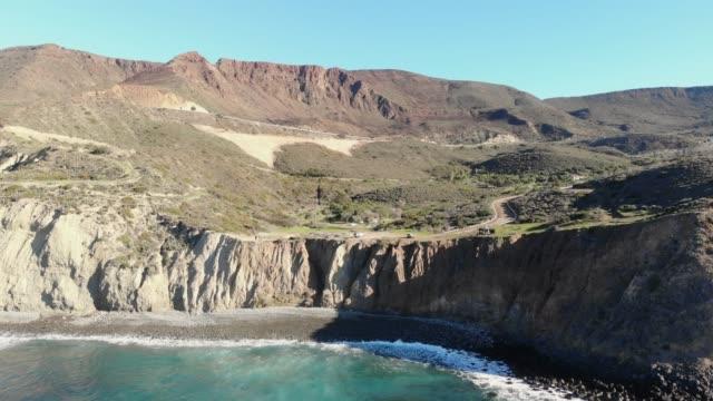 scogliere - penisola di bassa california video stock e b–roll