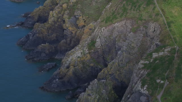 cliffs - galloway scotland stock videos & royalty-free footage