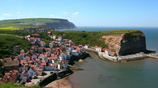 Clifftop View Of Staithes & Harbour Staithes