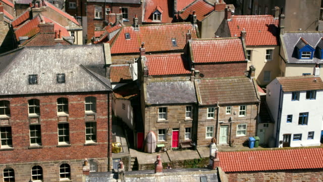 Clifftop View Of Staithes Rooftops Staithes