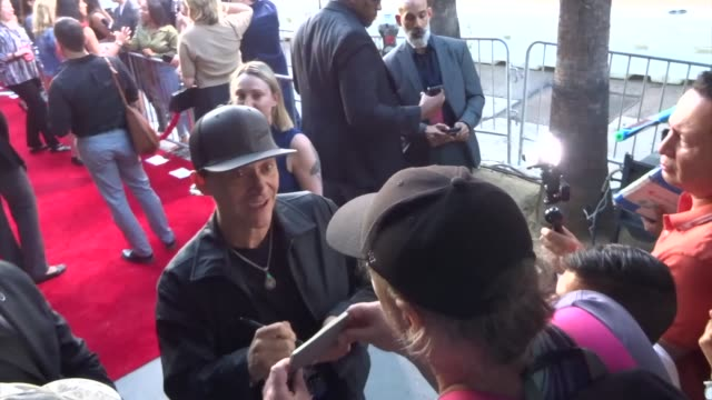clifton collins jr greets fans outside the ad astra premiere at arclight cinerama dome in hollywood in celebrity sightings in los angeles - cinerama dome hollywood stock videos & royalty-free footage