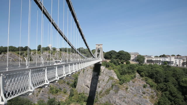 clifton suspension bridge in bristol uk on monday july 2 2018 - clifton suspension bridge stock videos and b-roll footage