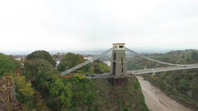 clifton suspension bridge in bristol - clifton suspension bridge stock videos and b-roll footage
