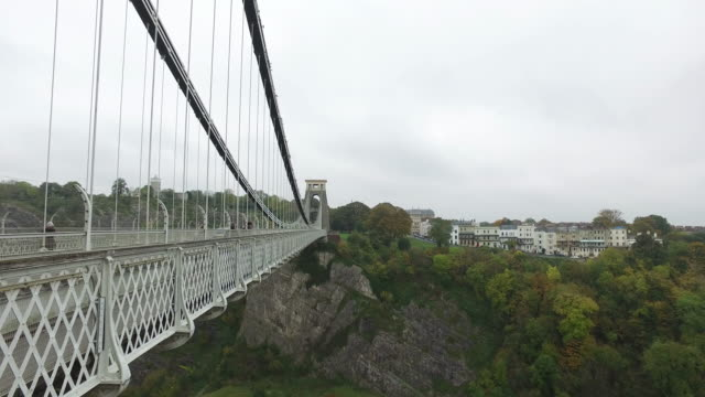 clifton suspension bridge in bristol - bristol england stock videos & royalty-free footage