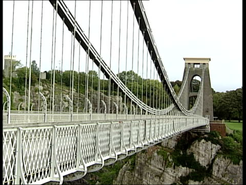 clifton suspension bridge near bristol more of nearby buildings / more general views of bridge - clifton suspension bridge stock videos and b-roll footage