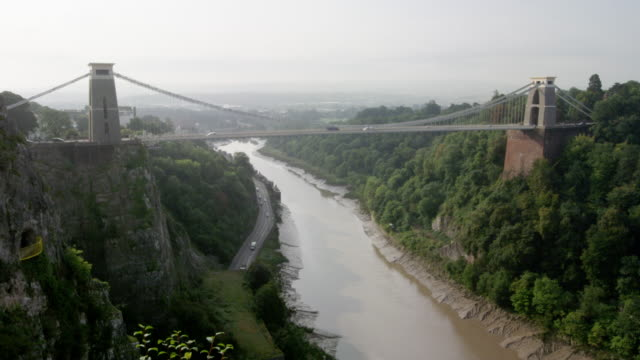 clifton suspension bridge - suspension bridge stock videos & royalty-free footage