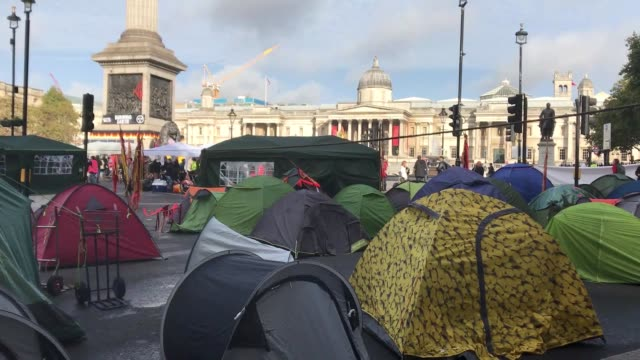 climate change activists from the extinction rebellion movement block roads during the second day of a twoweeklong planned rallies in london united... - environmentalist stock videos & royalty-free footage