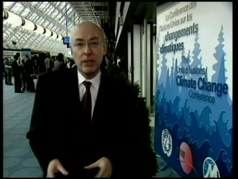 climate change conference; itn various shots of american delegation gv delegates milling about 00:00:17 jeff fiedler interview sot - they have been... - モントリオール点の映像素材/bロール
