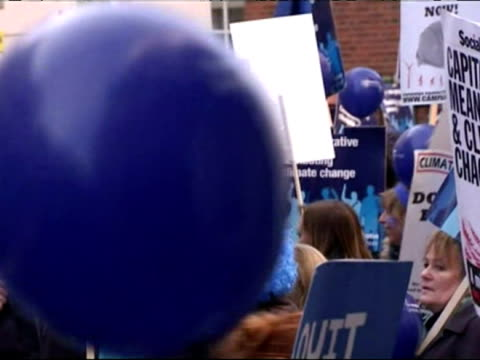 climate change demonstration in london, england - british liberal democratic party stock videos & royalty-free footage