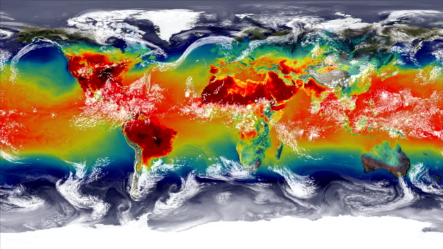 vidéos et rushes de climate change influences and weather - hot