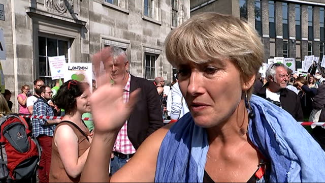 emma thompson along / emma thompson with musician peter gabriel emma thompson interview sot - emma thompson stock videos and b-roll footage