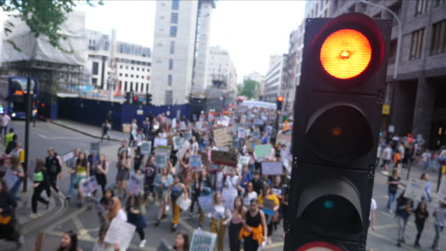 climate change protest march - politica video stock e b–roll